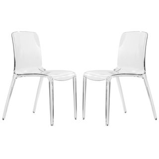 Laos Clear Modern Dining Chair (Set of 2) | Overstock™ Shopping - Great Deals on Dining Chairs