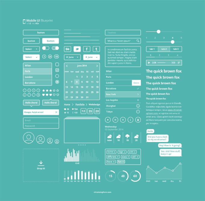 Mobile UI Blueprint 1.2 - 365psd