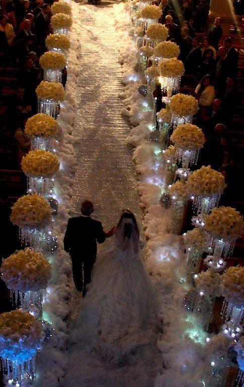 Wedding decoration - aisle