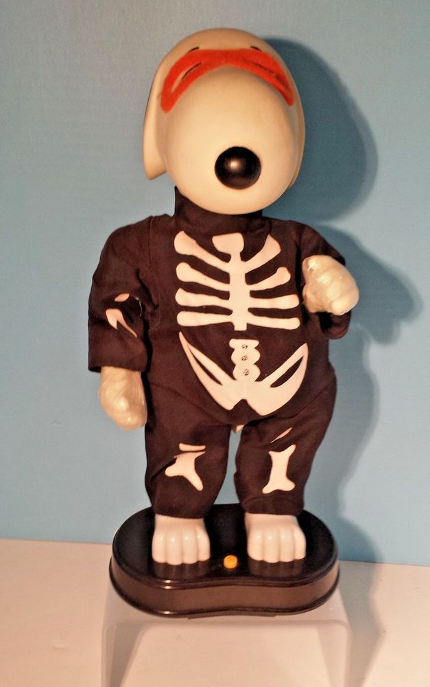 Dancing Snoopy in a Skeleton Halloween Costume by Gemmy   Plays Snoopy Song  #GemmyIndustries