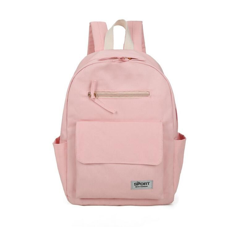 College of the new school bag 2017 Fashion Women Backpack Solid color shoulder bag Men and women classic casual computer bag #Affiliate