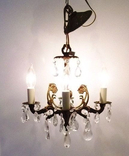 178 best images about vintage antique lighting on pinterest antiques chandelier crystals and - Small bathroom chandelier crystal ...