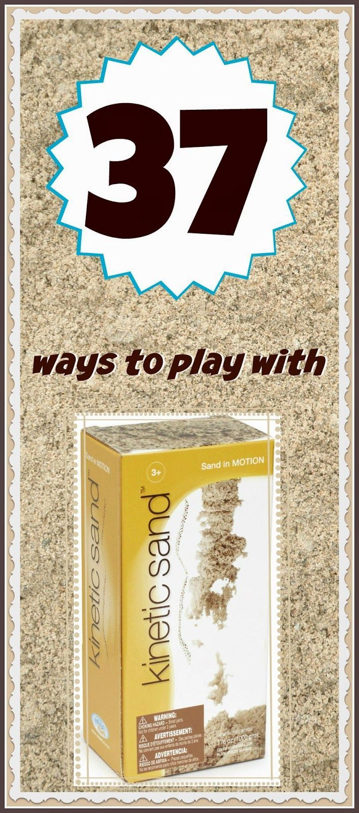 Simple  ways to play with Kinetic Sand