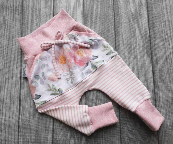 Pumphose Babyhose Hose Baby Kind Mädchen Blumen  56-104 Handmade