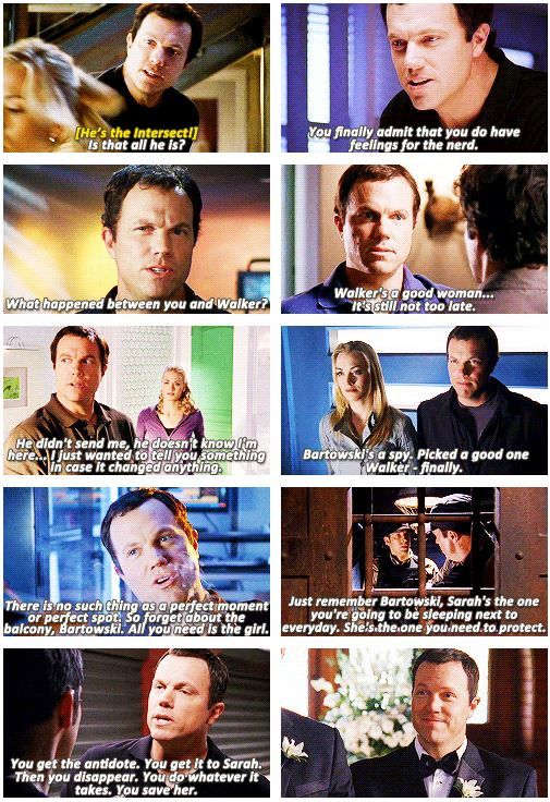 Casey giving his special brand of advice to #Chuck and Sarah