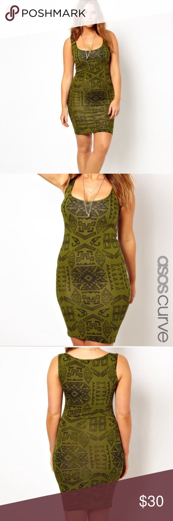 ASOS Curve Egyptian Print Mini Bodycon Dress 18 Size UK 22/ US 18- from ASOS Curve. Mini bodycon dress in Egyptian Print. Excellent, like new condition! ASOS Curve Dresses Mini