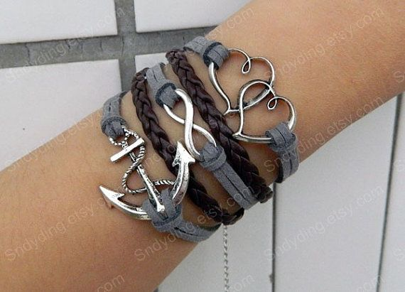 personalized jewlery infinity bracelet loves bracelet by Colorbody, $10.99