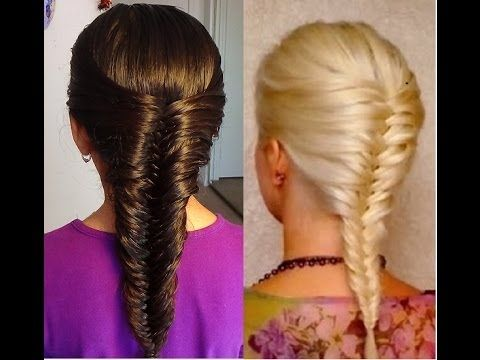 M French Fishtail Braid!  Trenza Francesa de Cola de Pescado
