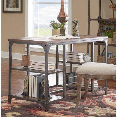 Best Laurel Foundry Modern Farmhouse Amanda Solid Wood Desk 400 x 300