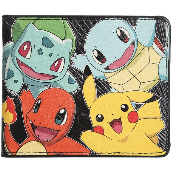 Pokemon Starters Bi-Fold Wallet | Hot Topic ($17) ❤ liked on Polyvore featuring bags, wallets, pokemon, wallet, clear bags, credit card holder wallet, colorful bags, multicolor bag and billfold wallet
