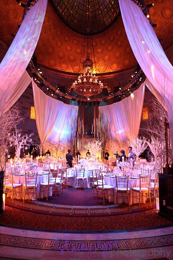best wedding reception halls in nyc%0A Chandelier Event  Winter Wonderland Wedding   Gotham Hall  New York City