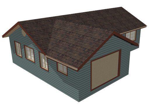 L-shaped roof