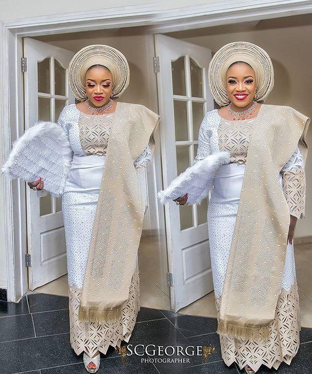 "10.6k Likes, 26 Comments - Africa's Top Wedding Website (@bellanaijaweddings) on Instagram: ""Luminous Bride...she smiled all the way through.  Photo @scgeorge1 Asooke @patrickayanski  Makeup…"""