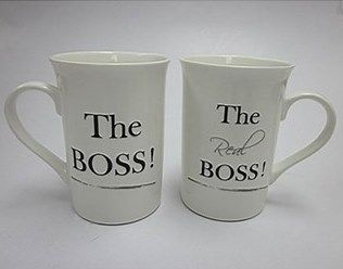 Wedding gift ideas 13 pinterest the boss set of 2 wedding mugs the ideal wedding gift ensuring everyone knows whos boss negle Gallery