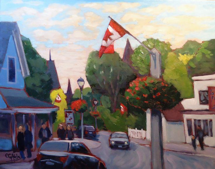 Main Street, Unionville, Ontario, Canada by Edward Abela | Artfinder
