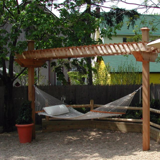 Backyard Hammock Design Hammock Arbor Backyard Pinterest