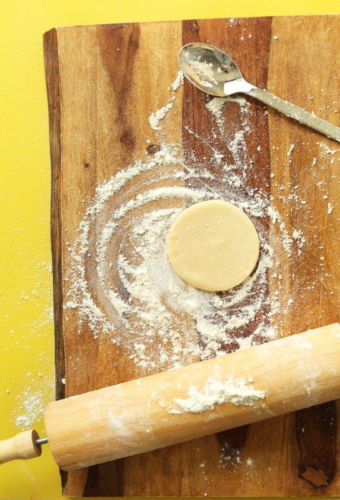 EASY 3 ingredient Coconut Oil Pie Crust! #pie #piecrust #coconutoil #coconut #healthy #recipe