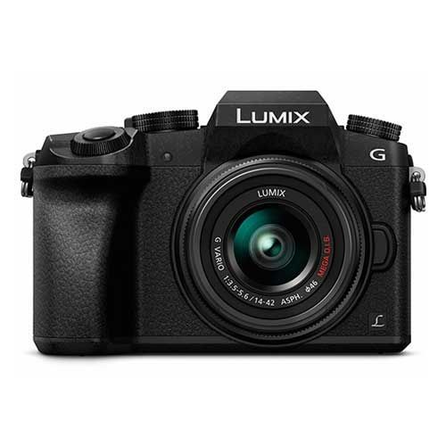 5.BEST CAMERA FOR YOUTUBE: PANASONIC LUMIX G7 4K Mirrorless Camera, with 14-42mm MEGA O.I.S. Lens, 16 Megapixels, 3 Inch Touch LCD, DMC-G7KK