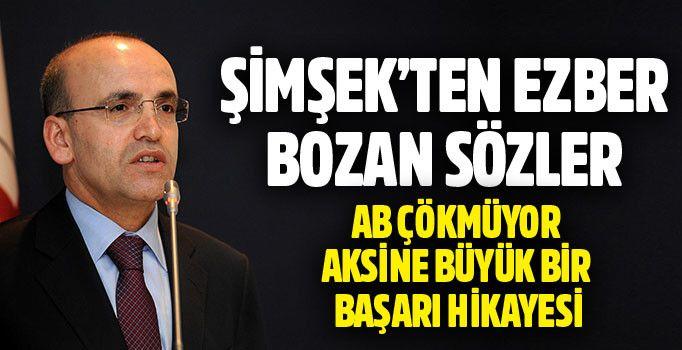 Mehmet Şimşek\'ten ezber bozan sözler: AB çökmüyor, tam aksine büyük bir başarı hikayesi