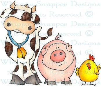 MacDonald's Farm - Farm - Animals - Rubber Stamps - Shop