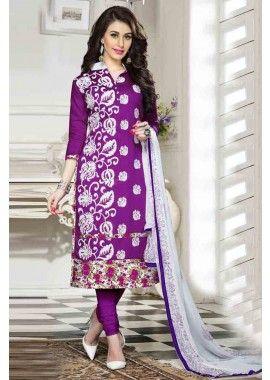 couleur pourpre coton churidar costume, - 76,00 €, #Robeindienne #Tenueindienne #Robepakistanaise #Shopkund