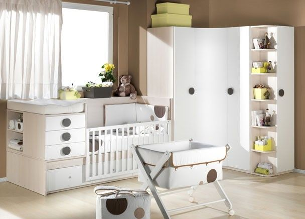 #Dormitorio para #bebé con #cuna convertible.