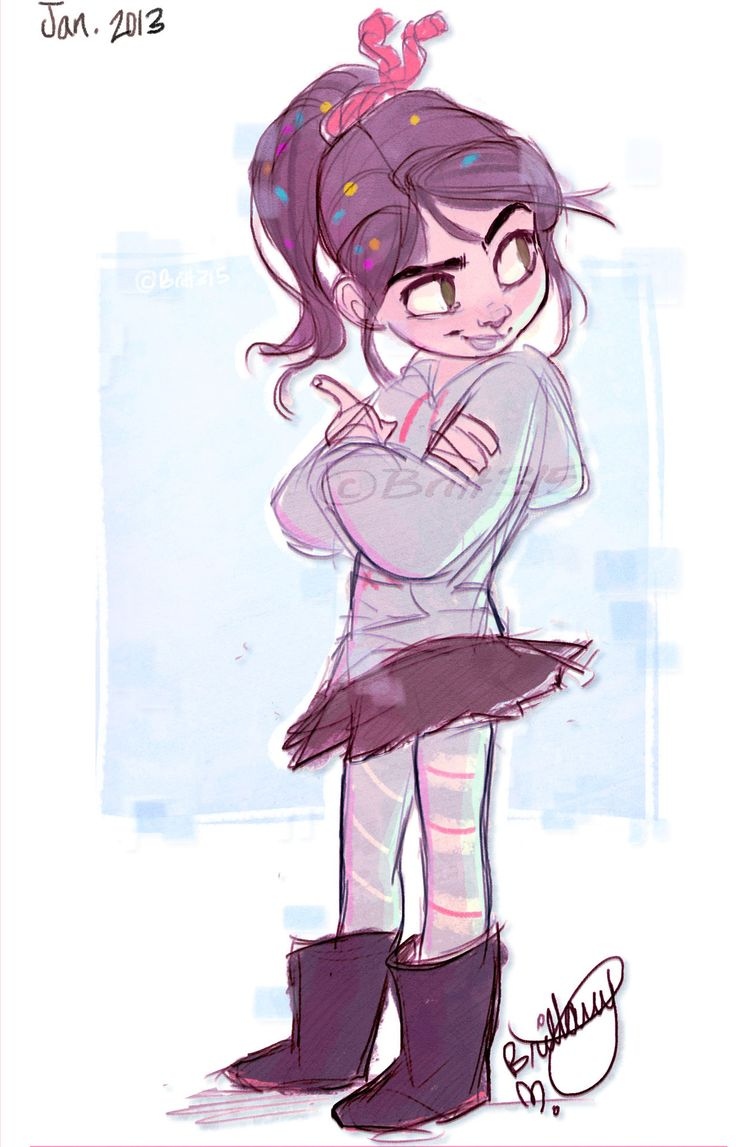 Disney Character Design References : Vanellope von schweetz favorite character of all time