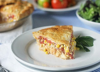 Tomato, Corn and Bacon Pie | Recipes - Main Dishes | Pinterest