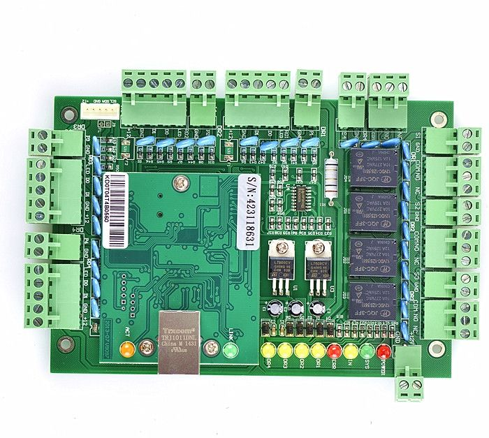 59.34$  Buy now - http://ali0bp.shopchina.info/go.php?t=32361336684 - New Four Door 4 Readers Professional TCP/IP Network Access Control Board Green Board for Door Access Control System T04  #magazineonline