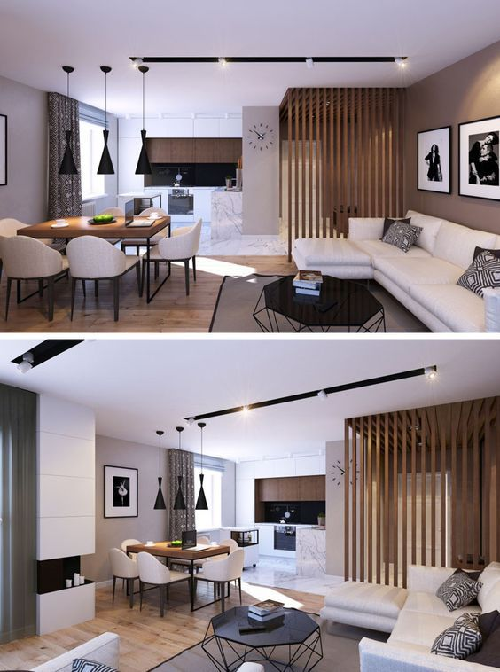 11 Ideas For Making A Room Feel Taller // Vertical Lines -- Much like the last two ideas, vertical lines elongate a space by directing your eyes toward the ceiling and tricking your brain into thinking the space is taller than it actually is.