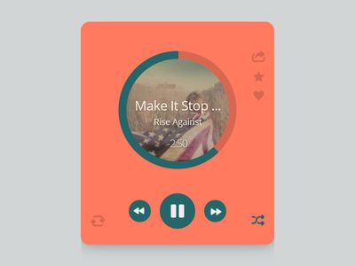 Music Player by Bluroon on dribbble.com