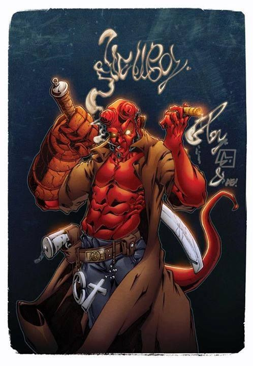 Incredible Hellboy artwork by Luis Figueiredo.