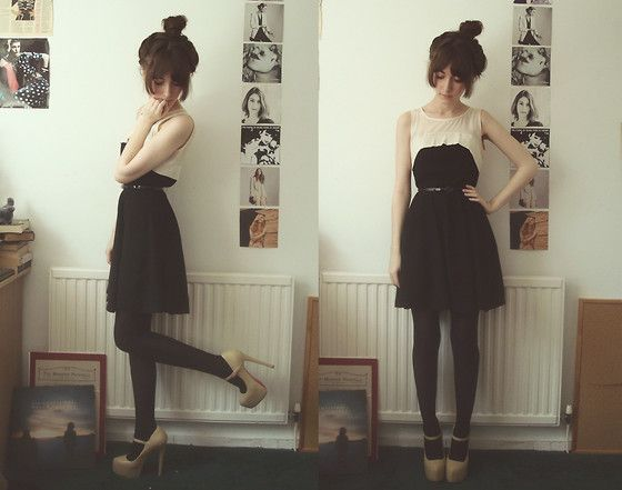 :): Bi Ashleigh, Style Boards, Cute Dresses, Black And White, Dresses Shoes, Beautiful, Outfit, Cosmia Bi, White Black