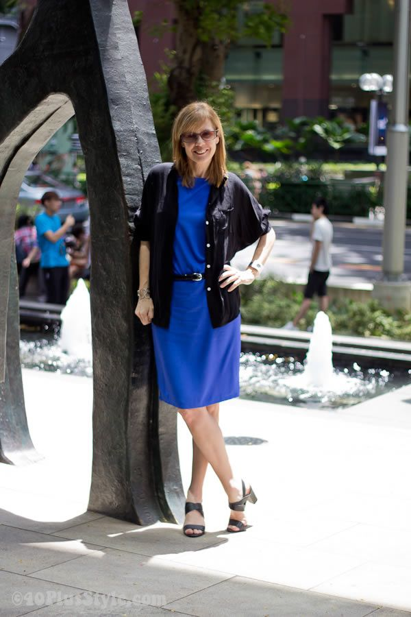 Stepping out of my comfort zone with a bright blue dress
