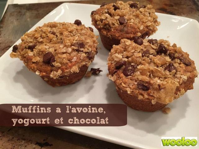 Muffins à l'avoine, yogourt et chocolat