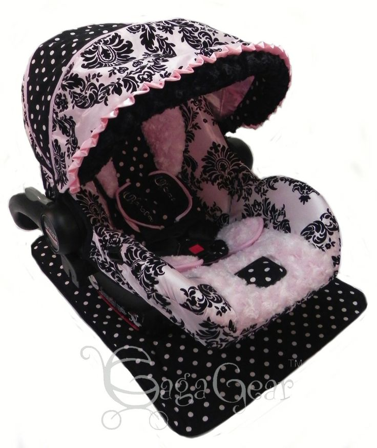 pink and black damask taffeta car seat cover set gabrielle set shown on. Black Bedroom Furniture Sets. Home Design Ideas