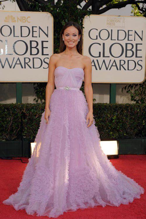 2009 Golden Globes - Olivia Wilde in Reem Acra