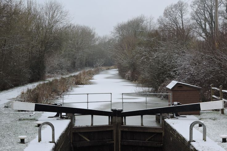 A snowy Loxwood lock on the Wey & Arun Canal