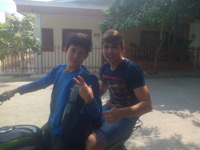Con mi Amigo Sergio Haciento Trabajos jjaaj