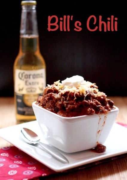 Bill's Chili - I have no idea who Bill is, but he makes the BEST CHILI EVER!