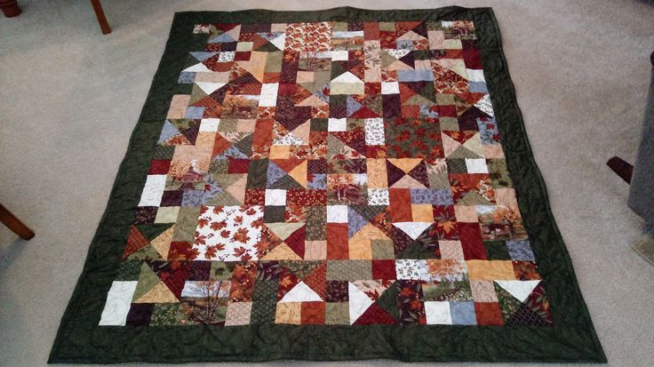Cobblestones throw quilt.  Made by Susan Clark.  May 2017