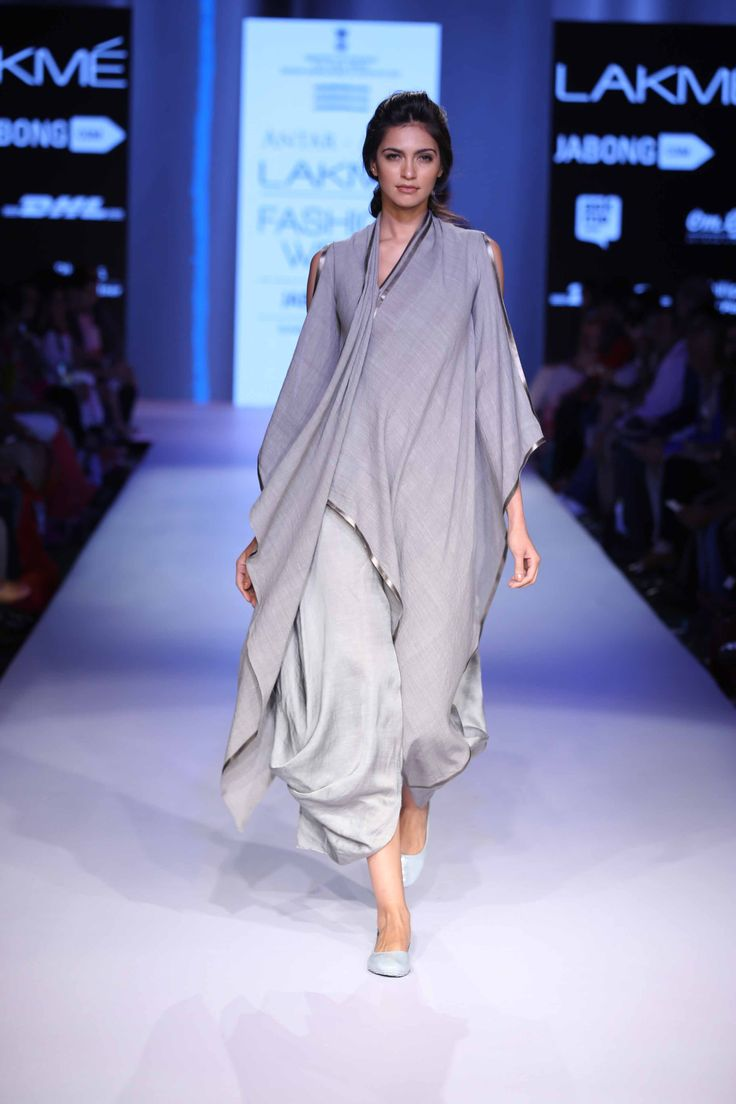 Ujjawal Dubey showcased his collection Antar Agni, inspired by indigenous looks of Middle and Far East at Lakme Fashion Week Summer Resort 2015 #JabongLFW