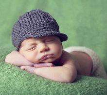 2015 Handgemaakte Pasgeboren Baby jongen hoed gebreide beanie hoed haak kostuum baby pasgeboren fotografie rekwisieten(China (Mainland))