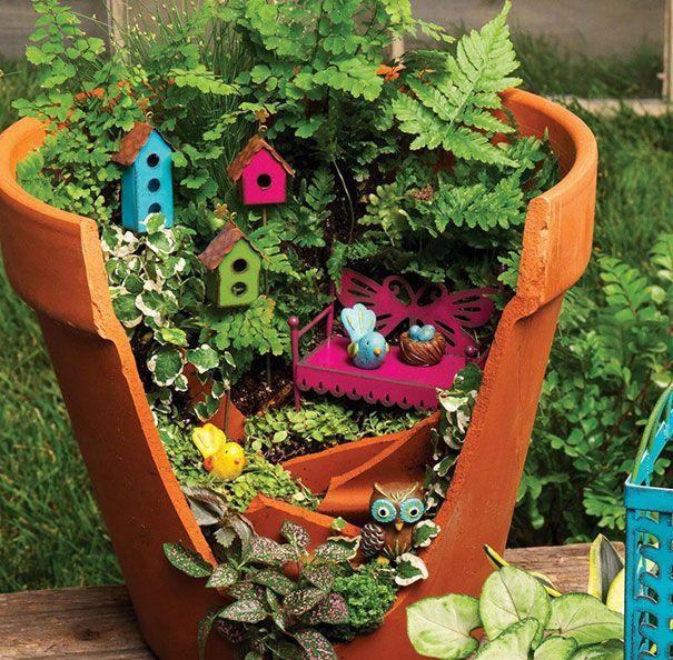 Incredible Broken Pot Ideas Recycle Your Garden: Broken Pot Style Images On