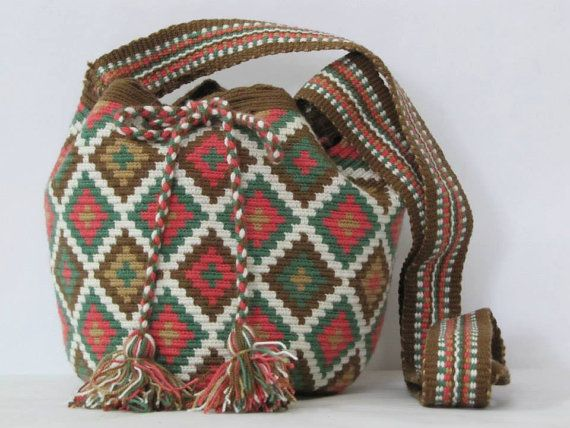 Small Wayuu Bag Tribal Sac Crossbody boho bag by PavanaFit on Etsy