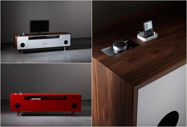 Caixa TV, ipod speaker cabinet