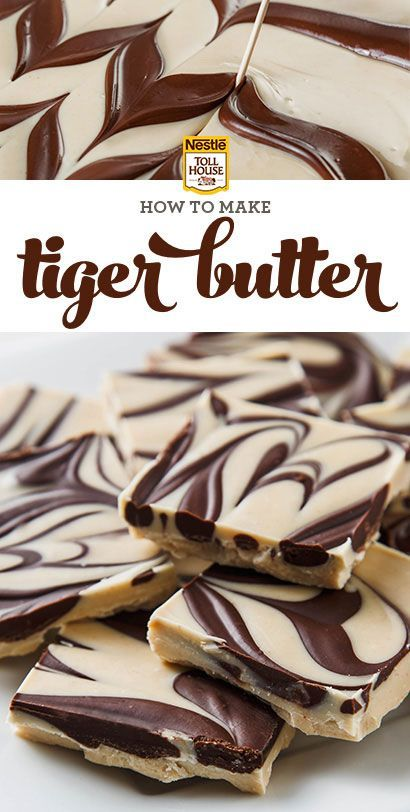 It calls for just three ingredients and takes only a few minutes to make (plus refrigeration time). Fans of the chocolate-peanut butter flavor combination will love this striped candy. Get the recipe from Nestle Toll House.: