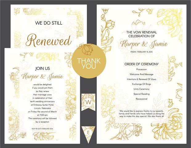 Customizable Wedding Invitation Templates: These Free Vow Renewal Invitation Templates Are Completely