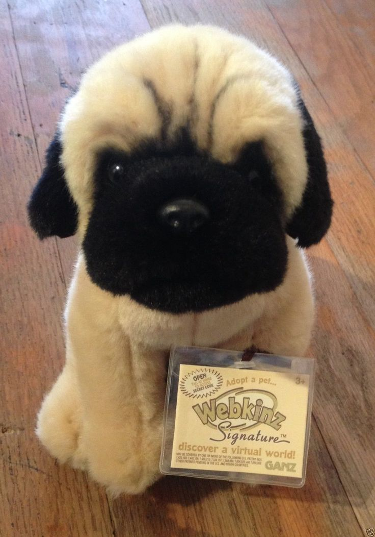 Ganz Webkinz Signature Pug Puppy Dog Signature Online Code Virtual Pet Plush New | eBay #RecycledCouture #Fashion #eBay