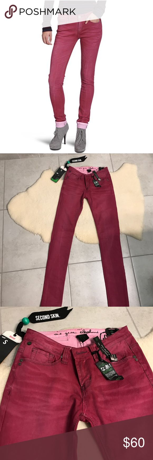One Green Elephant jeans New, stylish jeans, size US 4. 98% cotton, 2% spandex One Green Elephant Jeans Skinny